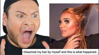 Hair Stylist Reacts to Antonio Garza Bleach Fail
