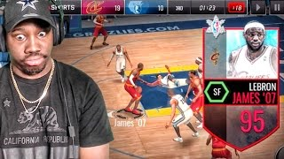 95 LEBRON JAMES BREAKING ANKLES & POSTERIZING! NBA Live Mobile 16 Gameplay Ep. 55