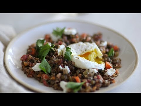 Warm Lentil Salad with EggsHealthy Appetite with Shira Bocar
