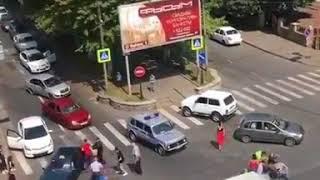 Драка на улице Тамаева. Владикавказ