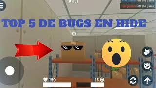 top 5 de bugs en hide online