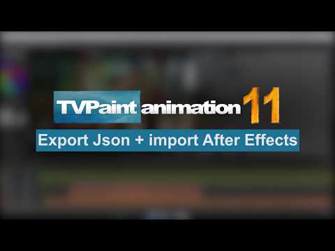 How to export your animation to After Effects | TVPaint Animation 11 0 8  Tutorial