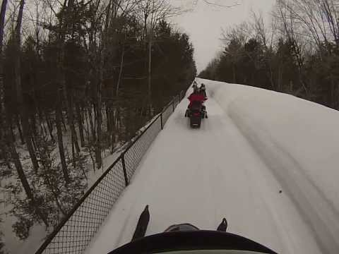 Arctic Cat 2008 TZ1 LXR Snowmobile Ride Maine