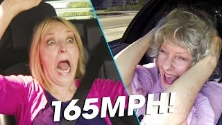 Grandmas React to Speeding in a 650HP Lamborghini!