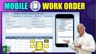 Learn How To Create This Excel Work Order Application & Mobile Sync [Full Training From Scratch]