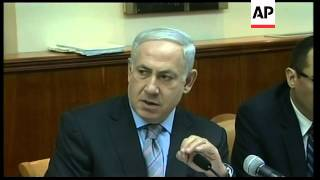 Israeli cabinet meets, Netanyahu comment on UN vote