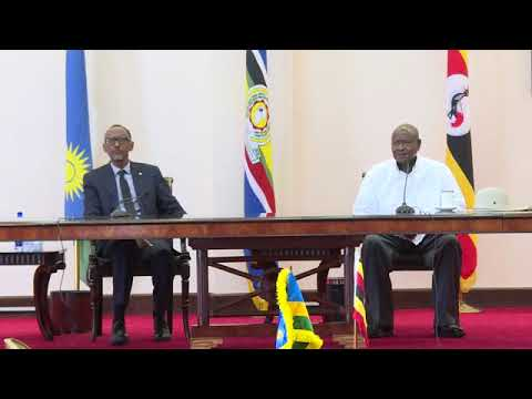 President Kagame and President Museveni joint press conference   Entebbe, 25 March 2018