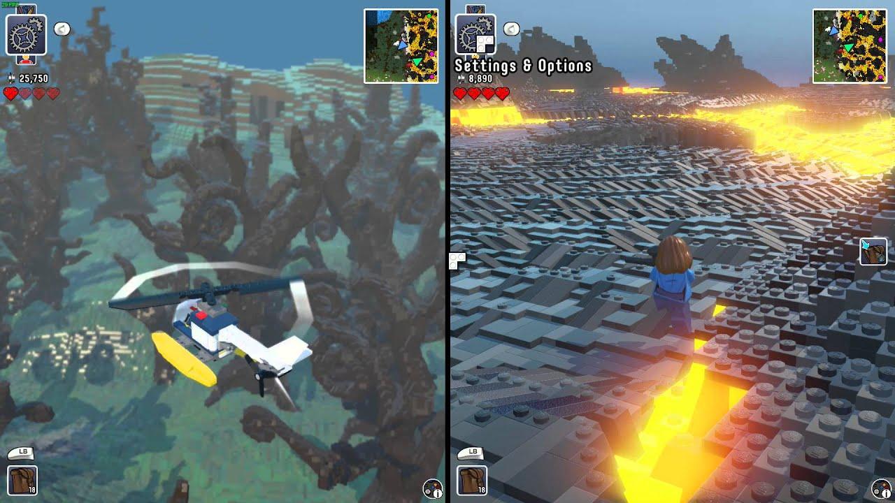 lego worlds 2 player split screen dragons planes and. Black Bedroom Furniture Sets. Home Design Ideas
