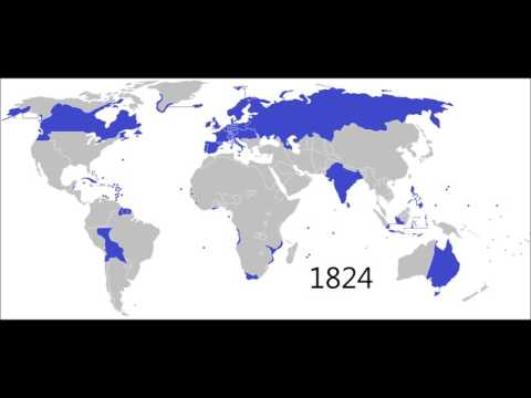 Expansion and Decline of European Imperialism: Every Year (1492-2016)