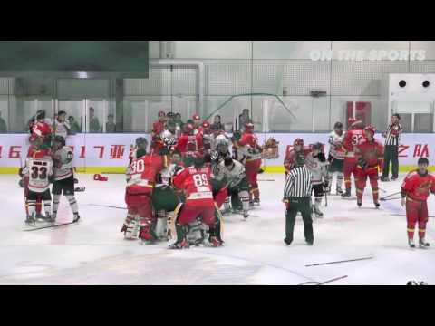 FIGHT | Bench-clearing | 2017. 3. 11 | China Dragon vs Daemyung Killerwhales