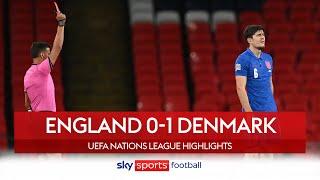 Maguire & James sent off as Denmark defeat England | England 0-1 Denmark | Nations League Highlights