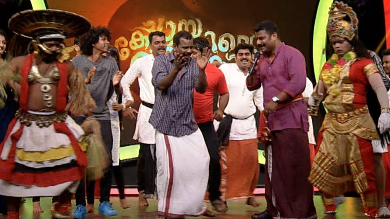 Chaya Koppayile Kodunkattu l  Nadan Pattu  on the floor..! l Mazhavil Manorama