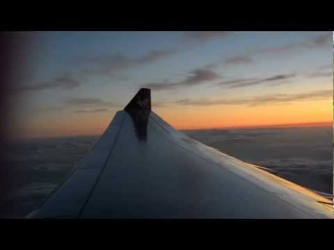 Virgin Atlantic A330-300 Take off at sunset Orlando to Manchester 12th Feb 2013 HD 720p