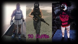 Top 30 Female Outfits  GTA 5 Online   (RNG & TRYHARD) 💕👌🏻