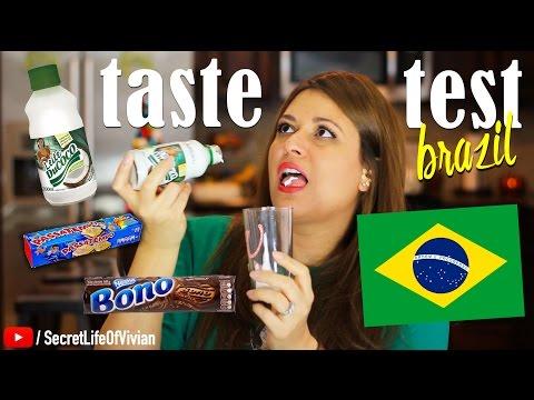 BRAZILIAN FOOD TASTE TEST #1 | BRAZIL | VIVIAN REACTS