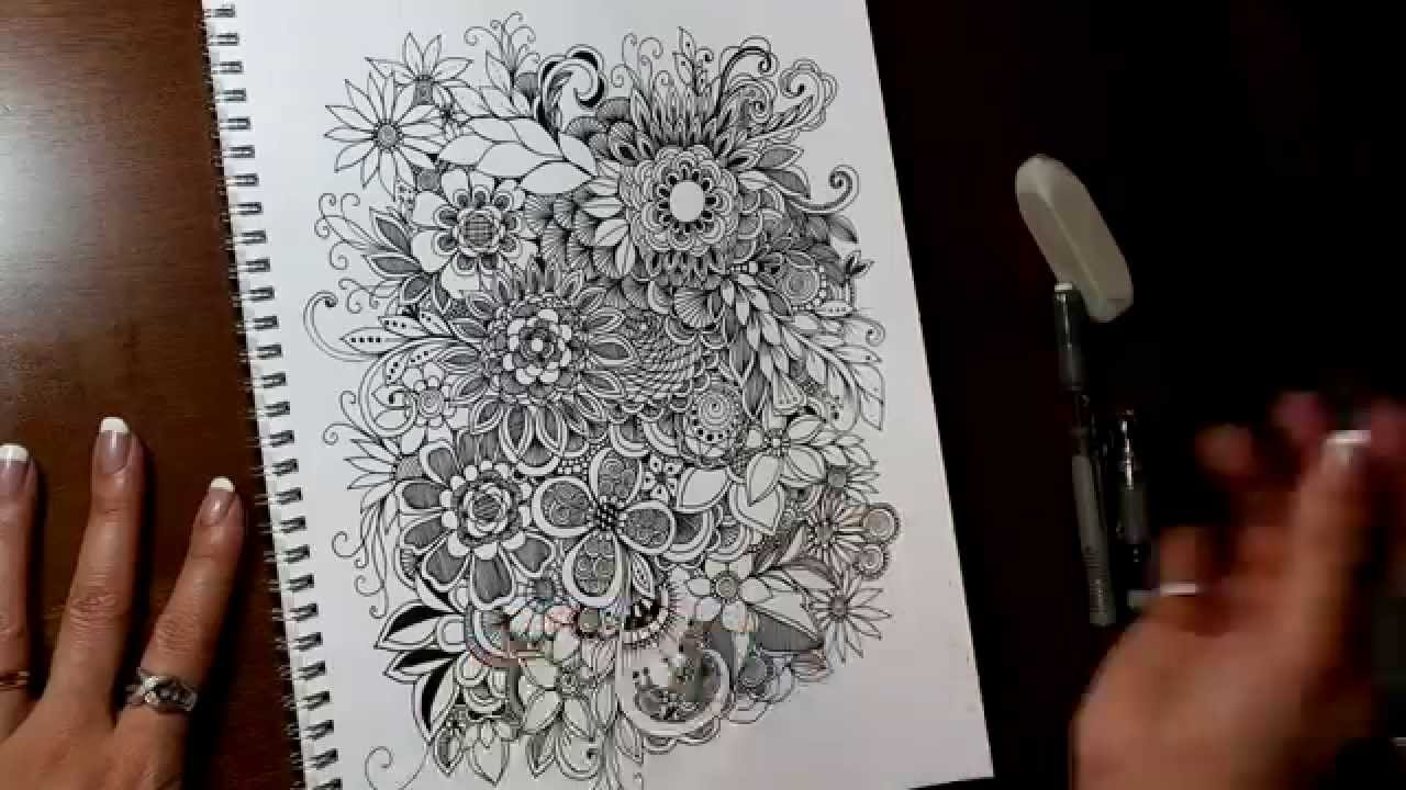 Circles Lines Dots Curves Flowers Artsy Doodle YouTube
