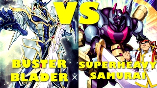Real Life Yugioh - BUSTER BLADER vs SUPERHEAVY SAMURAI | February 2017 Scrub League