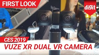 CES 2019: Vuze XR Dual VR Camera | First Look | Digit.in