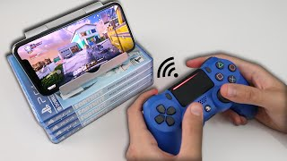 How to CONNECT PS4 CONTROLLER TO iPhone (EASY METHOD)