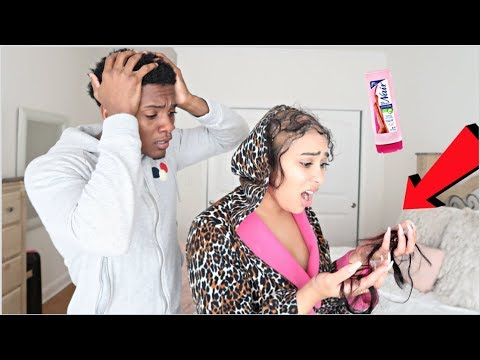 HAIR REMOVAL PRANK ON BOYFRIEND!!