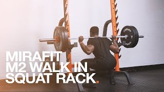 Mirafit M2 Semi Commercial Walk In Squat Rack With Spotters