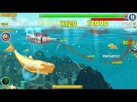 Hungry Shark Evolution - Moby Dick vs GOLD MOBY DICK #  New Record 50.000.000 points