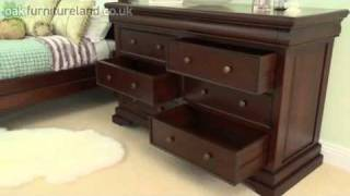 Sleigh Solid Mahogany 6+2 Large Chest of Drawers From Oak Furniture Land
