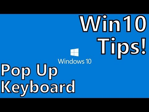 how to get on screen keyboard windows 10 with mouse
