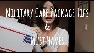 Military Care Package Tips and Must Haves