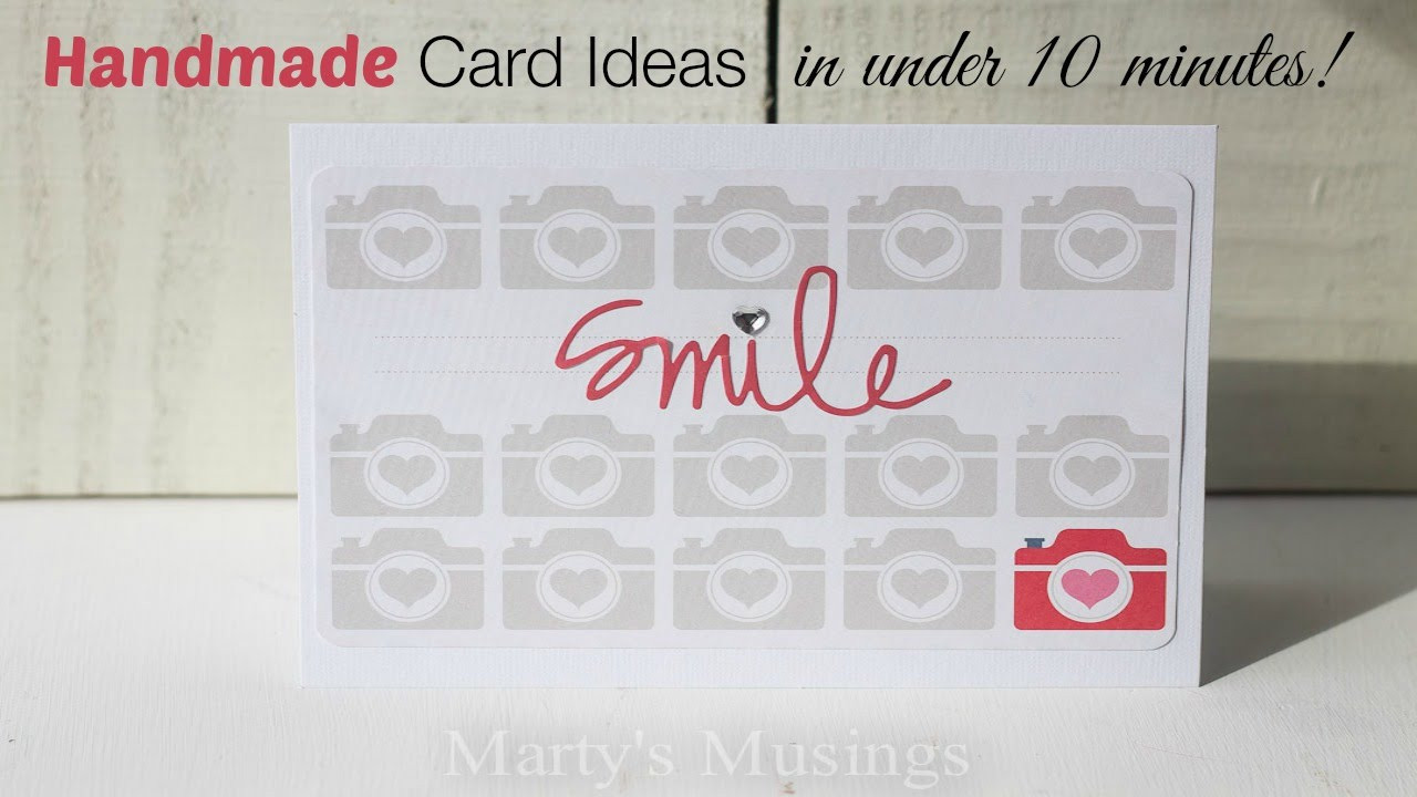 Homemade Card Ideas with Project Life - YouTube