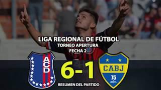 Automoto vs Boca Juniors - Resumen (6-1)   Fecha 2   Liga Regional de Fútbol