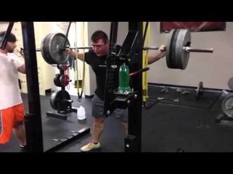 505 x15 raw squat Robb Philippus