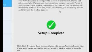 Setting up Airport Express for use with Sonos