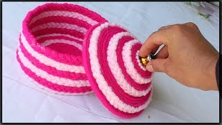 How to make a storage box - Jewellery box from woolen and newspaper