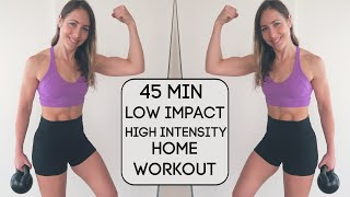 45 Min Silent HÏIT // LOW Impact, HIGH Intensity (Apartment-friendly workout)