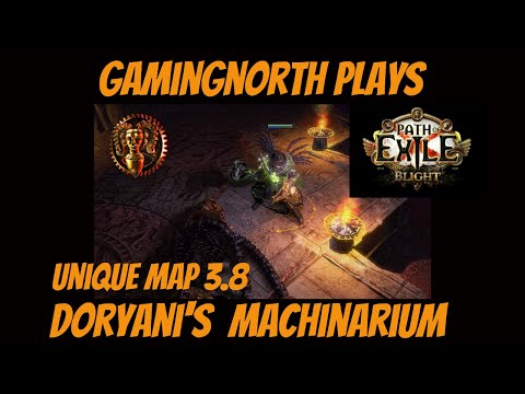 Path of Exile - Doryani's Machinarium. Unique Map! (Blight league 3.8)