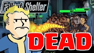 MY WHOLE VAULT GETS DESTROYED - Fallout Shelter - Fallout Shelter Lunch Box Opening