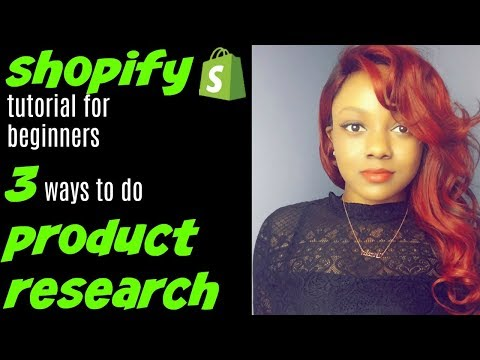 Shopify Product Research 2018 | Shopify Tutorial for Beginners thumbnail