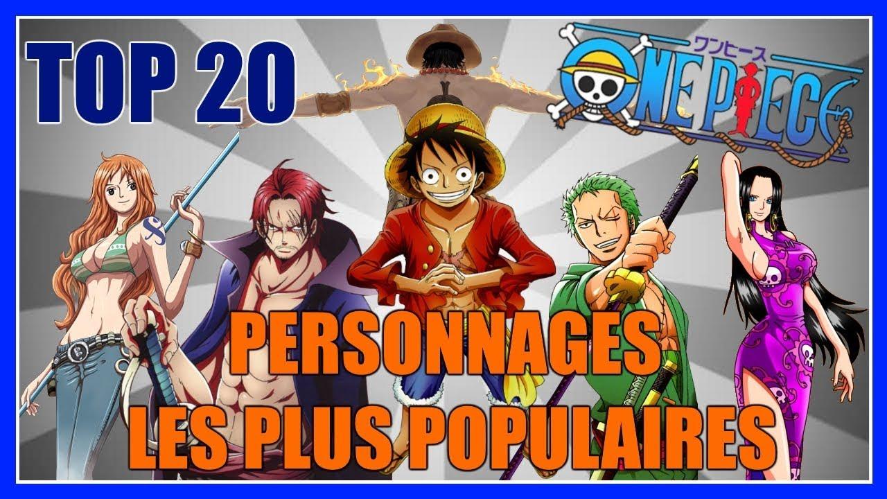 One piece top 20 des personnages les plus populaires youtube - Tous les personnages de violetta ...