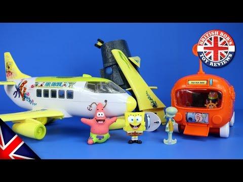 Spongebob Squarepants Plane & Bikini Bottom Submarine Bus Playset Episode with Duplo & Peppa Pig