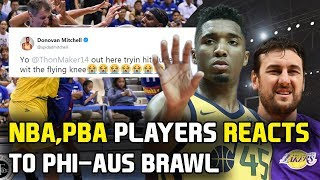 NBA, PBA players at iba pang sports personalities nag react sa nangyari sa laban ng Gilas