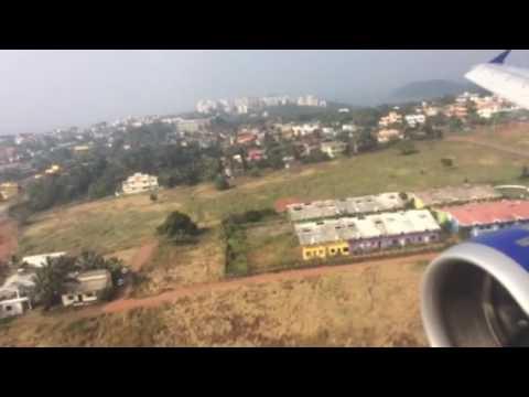 IndiGo Airlines 6E 711 landing in Goa from Mumbai