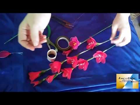 HƯỚNG DẪN LÀM HOA VOAN( Gladiolus NYLON FLOWERS)_HOA LAY ƠN