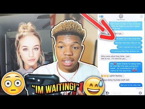 "XXXTENTACION ""I DONT WANNA DO THIS ANYMORE"" SONG LYRIC PRANK ON GIRL WHO LOVES ME! GONE RIGHT"
