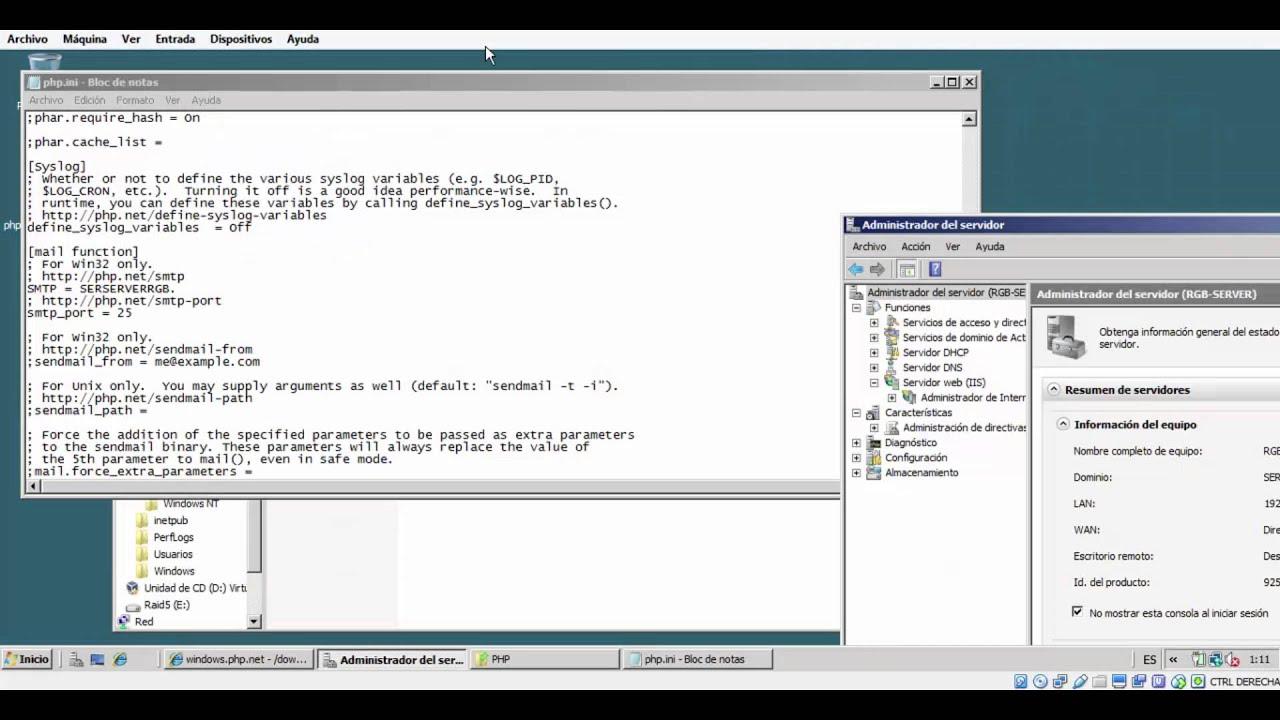 Configuracion del Servidor web PHP - YouTube