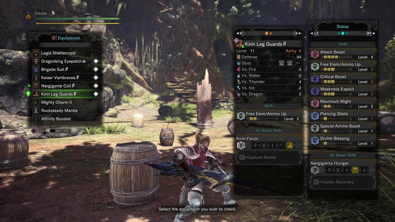 [MHW] Ultimate Pierce Shot Bowgun Armor Build