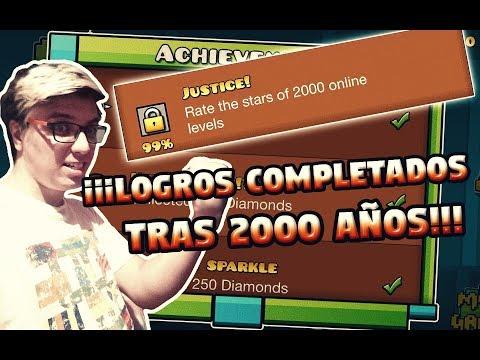 TODOS LOS LOGROS DE GEOMETRY DASH COMPLETADOS *2000 AÑOS MAS TARDE*