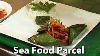Bhetki Chingri Paturi With Thai Sauce | Tiger Prawn | Bhetki Maach