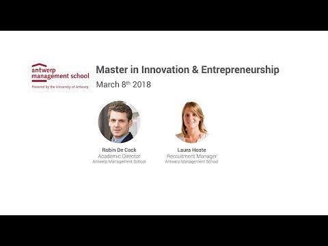 Master In Innovation & Entrepreneurship Antwerp Management