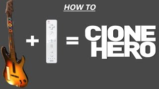 How to Download Clone Hero with Custom Songs and get Wii Guitar to work (no adapters needed)